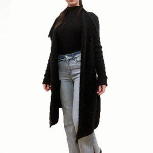 VINCE long fluffy black cardigan jacket